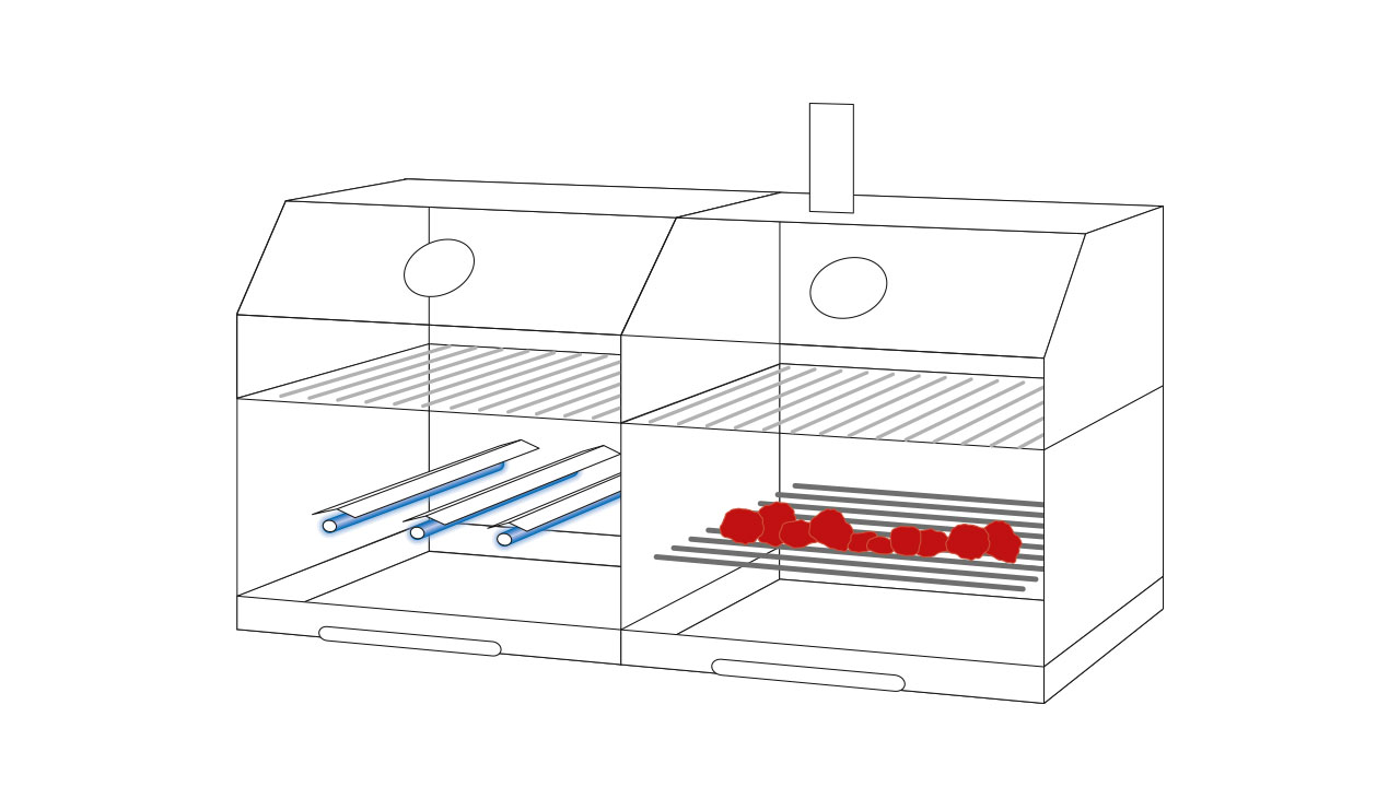 gas kohle grill